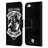 Head Case Designs Officially Licensed AMC The Walking Dead RPG Black White Daryl Dixon Biker Art Leather Book Wallet Case Cover Compatible with Apple iPhone 6 Plus/iPhone 6s Plus
