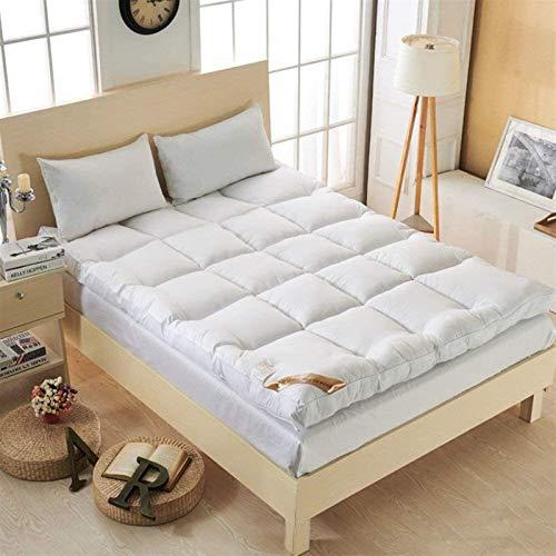 dongyu Colchón tapizado supersuave de 10 cm de espesor, colchón Tatami, colchón plegable, portátil, cómodo (tamaño: 100 x 200 cm, color: A)