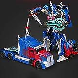 YiChengJT Figura di Azione Trasformabile da 22 Cm, Black Mamba Truck Optimus Prime, Collezione per Bambini di Decorazioni per La Statua del Modello di Personaggio Animato, Regali per Bambini