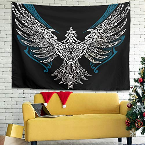 nanjingjin Viking Throw Blanket Picnic for Bedroom Easy to Pack Away – Super Soft Suitable for 4 Seasons White 230 x 150 cm