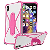 i-Tronixs (Pink) Stretchy Phone Case Cover for BLU Vivo Xl