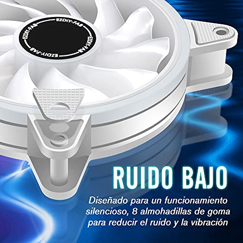 EZDIY-FAB ES2-white rgb slim fan with hub X-5P