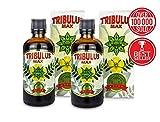 Cvetita Herbal, BULGARIAN TRIBULUS TERRESTRIS extracto líquido, refuerzo de testosterona, ganancia muscular, libido booster (200ml)