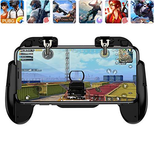 Phone Game Controller für PUBG L1R1 Shoot and Aim Trigger Joystick Ergonomisches Gamepad für/Fornite/Messer Out/Regeln des Survivals, Mobile Handgriff 11,9 cm - 17,8 Android & iOS Handy H6 Black
