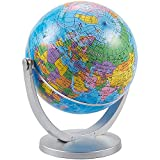 Juvale Small Spinning World Globe with Stand for Office Desktop, Classroom (4 Inches)
