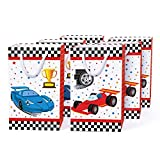 WERNNSAI Racing Car Party Bags with Handles - 16 PCS Race Car Party Supplies for Candy Gifts Goodies Treats Boys Birthday Baby Shower Party Favours Tote Bags