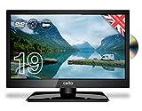 Cello 12 Volt 19' inch ZRTMF0291 Traveller Satellite LED TV Made in the UK Black