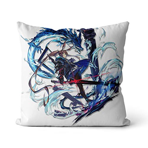 Square pillow Arknights Amiya ascended to change Cushion Covers Decorative Throw Pillow Living room sofa with invisible zipper car home decoration pillowcase + core 40X40CM