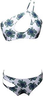 ビキニの水着セクシービキニセットビキニのセクシービーチ入浴水着,木の葉,S