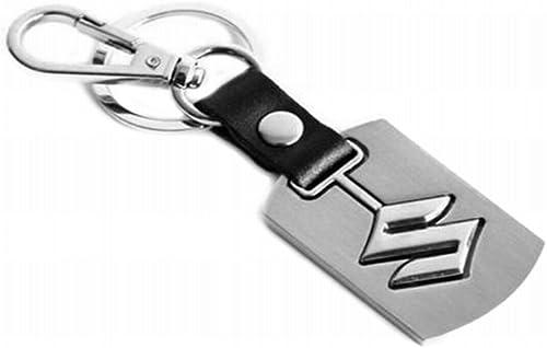 eShop24x7 Alloy Metal Steel Imported Key Chain Key Ring car Logo for Suzuki Brezza Ciaz Swift Alto Astar SX4 Ritz Cel...
