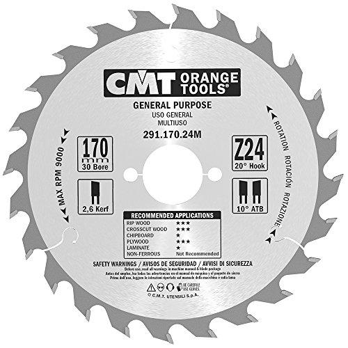 CMT Orange Tools 291,170,24 m scie circulaire 170 x 2,6 x 30 z 24 VTT 20 degrés