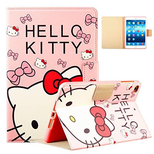 Logee Case for iPad Mini 1/2/3/4,PU Leather Cartoon Animal Cute Design Stand Wallet Folio Soft Smart Function Cover,Kawaii Fashion Fun Cool Protective Flip Cases for Kids Teens Girls(Mini1/2/3/4