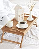 Breakfast Table, NaturalTek Bamboo Tray, Snacks Lunch Dinner, Folding Legs, Laptop Desk, Serving, Reading, Study