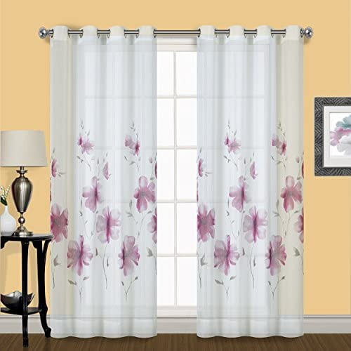 United Curtain Violet Co Monet Semi Sheer Window Curtain Panel Pair 50 X 63 product image