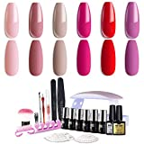 Modelones Gel Nail Polish Kit, 6 Colors Gel Polish Tiny Bottles, 1 Base - Best Reviews Guide