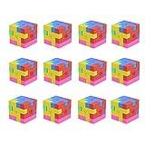DLOnline 12PCS Mini 3D Shape Puzzle Pencil Erasers for Student Reward,School Supplies,Part...