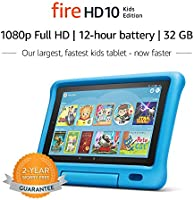 "Fire HD 10 Kids Edition Tablet – 10.1"" 1080p full HD display, 32 GB, Blue Kid-Proof Case"
