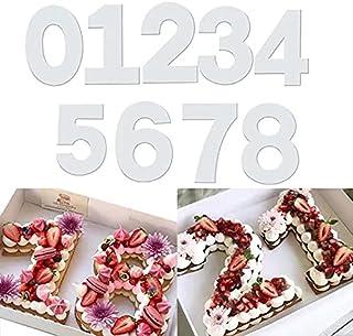 QAQHZW 9 pièces Moules à Gâteau, Moule Number Cake pour la cuisson gâteaux en forme de chiffres 0–8 Moules,pour Crème de G...