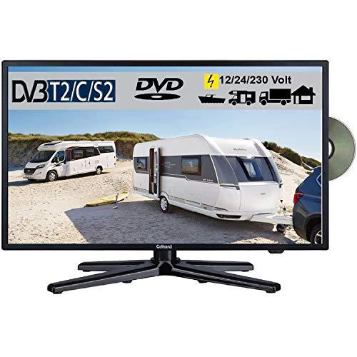 Gelhard GTV-2282 LED 22 Zoll Wide Screen TV DVD DVB/S/S2/T2/C 230/12 Volt 24 Volt für Wohnmobil...