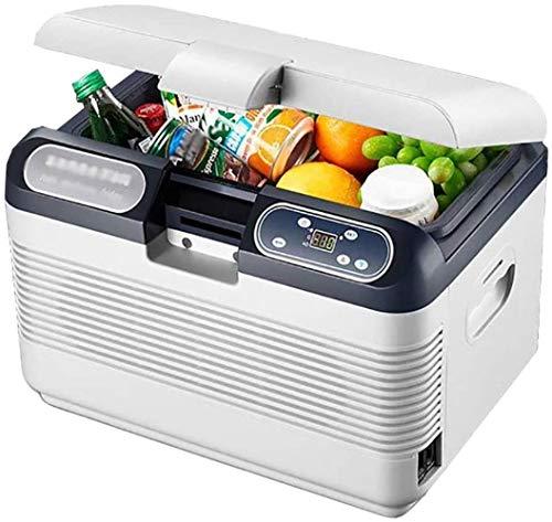 PULLEY Refrigerador de coche súper silencioso en el vehículo congelador 24 V/12 V/220 – 240 V frío caliente portátil caja fría – ideal para camping, picnic, playa mini nevera (color 12 l)