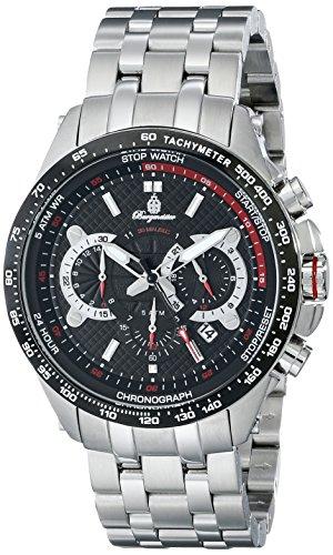 Burgmeister Armbanduhr für Herren mit Analog-Anzeige, Chronograph mit Edelstahl Armband - Wasserdichte Herrenarmbanduhr mit zeitlosem, schickem Design - klassische Uhr für Männer - BM530-121C Chester