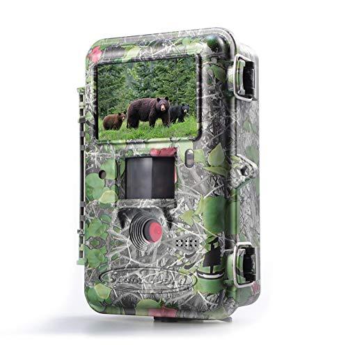 BolyGuard - Cámara de caza, 25 MP 1080P impermeable, cámara infrarroja para monitoreo de vida silvestre con rango de detección de 30 m, visión nocturna activada por movimiento