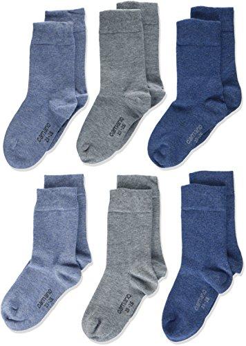 Camano Jungen 9300 Socken, Blau (Jeans Mix 0024), 31-34 (6er Pack)