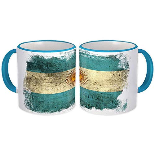 Argentina : Regalo Tazza : Distressed Flag Vintage Expat Country Argentino