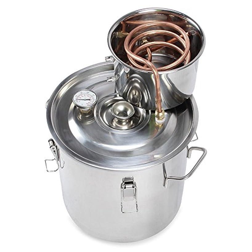 HiHydro 3 Gallon 12L Home Alcohol Water Distiller Copper Moonshine Still Kit Stainless Steel Spirits Boiler