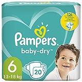 Pampers Baby-Dry Größe 6, 20 Windeln, bis zu 12...