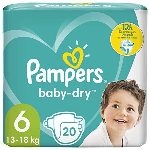 Pampers Baby-Dry Größe 6, 20 Windeln, bis zu 12 Stunden Schutz, 13-18kg