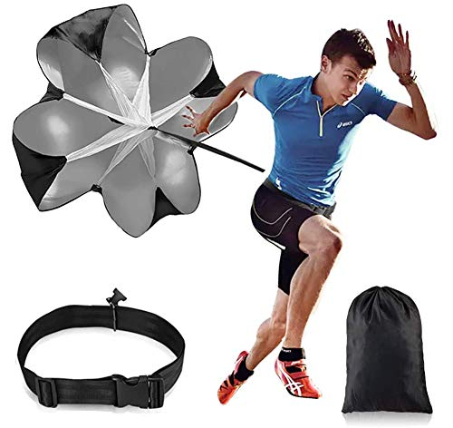 Kangler 56inch Running Speed Training Speed Chute Resistance Parachute for Speed Training and Acceleration Training
