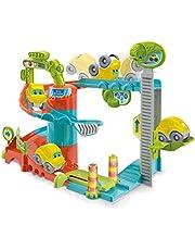 Baby Clementoni Play for Future- Fun Garage Baby Track Garaje de Coches de Juguete, Multicolor (Clementoni S.p.A 17404)
