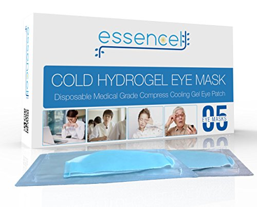 Cooling Eye Mask for Puffy Eyes - Cold Eyemasks for Sleeping, Eye Gel Therapy Pads for Dry Eye Treatment, Dark Circles, Headache, Migraine, Allergy, Stress Relief, Sleep Patches for Woman and Man