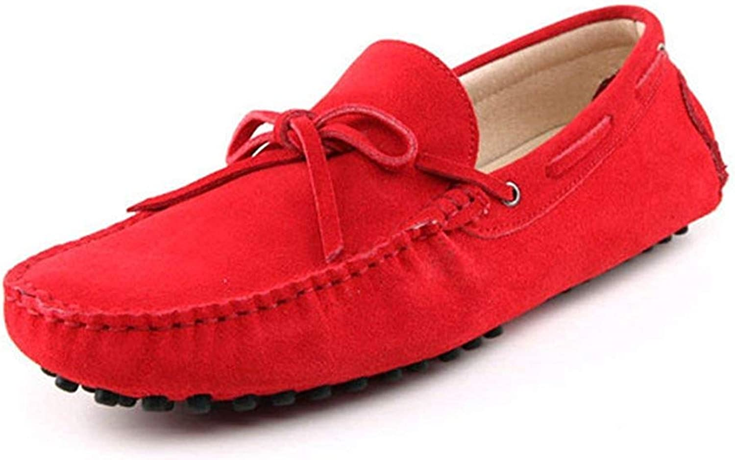 ZHRUI Men's New Knot Red Suede Driving Loafers Penny Boat shoes 6.5 M UK (color   -, Size   -)