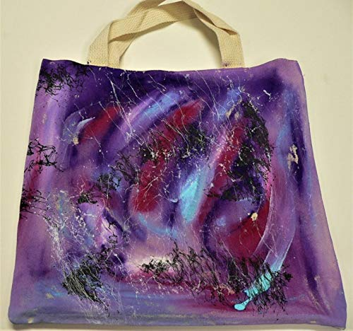 Hand-Painted Large discharge sale Purple Passion Canvas 2021 spring and summer new Tote
