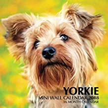 Yorkie Mini Wall Calendar 2018: 16 Month Calendar