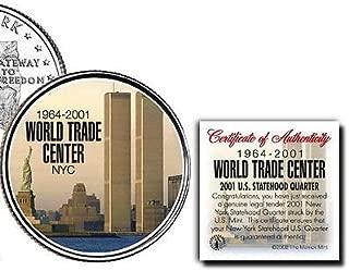 2001年世界貿易センターニューヨークStatehood 1964–2001u.s.ミントコイン。w / H COA 。