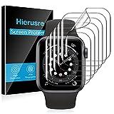 [6 pezzi] hierusre pellicola salvaschermo compatibile con apple watch series 7 45mm apple watch series se/6/5/4 44mm iwatch tpu pellicola protettiva(45mm/44mm)