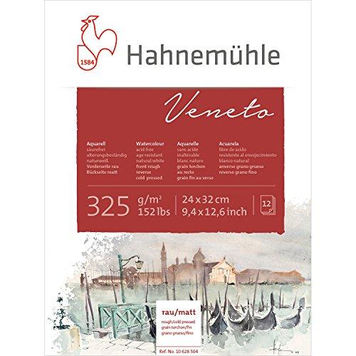 Hahnemühle Aquarellkarton Veneto, rau & matt, 325 g/m², 24 x 32 cm, 12 Blatt