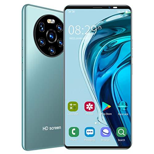 Teléfono inteligente desbloqueado, pantalla HD de 5.45 pulgadas, tarjetas duales, teléfono inteligente de doble modo de espera, teléfono celular con memoria 512MB+ 4G, teléfono móvil para Android(Verde)