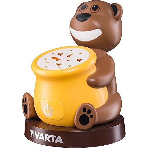 Varta Paul der Bear Led-nachtlampje, sluimerlamp voor kinderen, oriëntatielampje, zaklamp, sfeerlicht met touch-sensor en automatische uitschakelfunctie