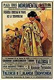 Corrida de toros Vintage Barcelona España 1935 Corrida póster pintura arte impresión lienzo decoración del hogar imagen de pared-40 cm x 60 cmsin marco