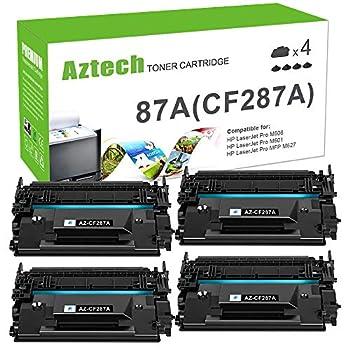 Aztech Compatible Toner Cartridge Replacement for HP 87A CF287A 87X CF287X HP Laserjet Enterprise M506 M506dn M506n M506x HP Laserjet Pro M501 M501dn M527 M527dn  Black 4-Pack