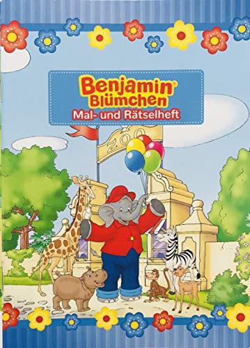Mal- und Rätselheft * Benjamin BLÜMCHEN * mit 12 Seiten in DIN A6 | perfekt als Mitgebsel oder Geschenk | Malbuch Malen Malblock Kinder Elefant Töröööö