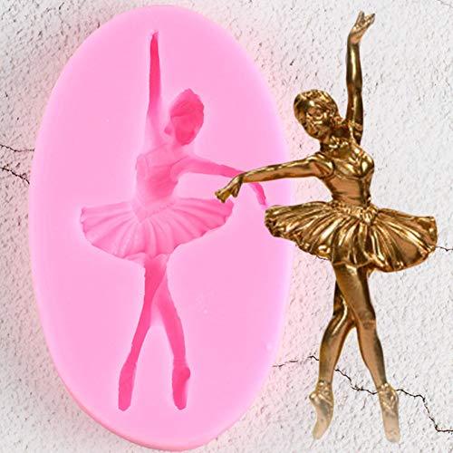 VIOYO Ballet Dancer Siliconen Mallen Cupcake Topper Fondant Mold DIY Baby Verjaardagstaart Decoratie Gereedschap Candy Chocolade Gumpaste Mould