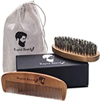 Rapid Beard Natural Boar Bristle Brush and Comb kit