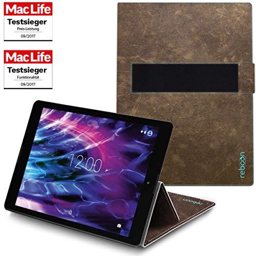 Hülle für Medion Lifetab P9702 Tasche Cover Case Bumper | in Braun Wildleder | Testsieger