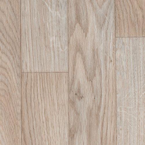 BODENMEISTER BM70555 Vinylboden PVC Bodenbelag Meterware 200, 300, 400 cm breit, Holzoptik Schiffsboden Eiche weiß