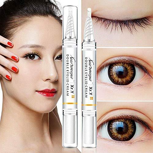 Crème Double Paupière Invisible, Stéréo-Paupière Longue Stéréotype Large Eye Magical Glue, convient à tout type de peau, imperméable et transpirante Naturel (1pcs)